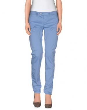 Повседневные брюки OAKS. Цвет: пастельно-синий