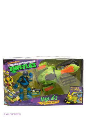 Трехколесный вездеход AT-3 Черепашки Ниндзя с фигуркой Playmates toys. Цвет: зеленый