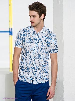 Рубашка Conver Vintage. Цвет: голубой, белый