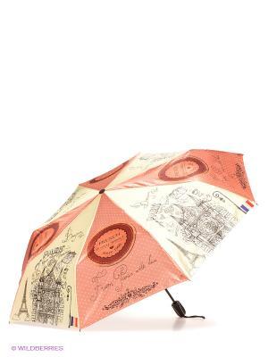 Зонт Zemsa. Цвет: светло-коралловый, светло-желтый