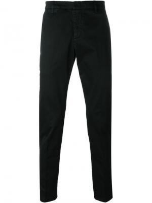Классические брюки-чинос Dondup. Цвет: чёрный