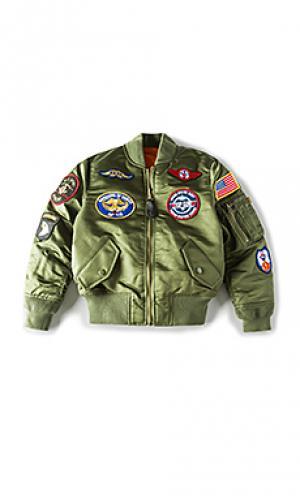 Куртка ma-1 ALPHA INDUSTRIES. Цвет: военный стиль