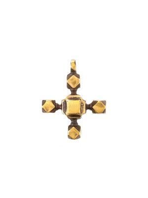 Амулет защитный Крест Скади Aztek. Цвет: желтый