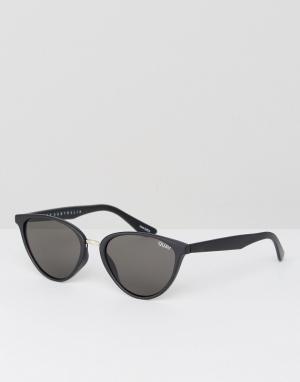 Quay Australia Черные солнцезащитные очки кошачий глаз Rumours. Цвет: черный