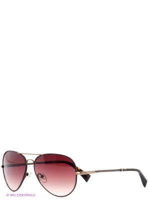 Очки солнцезащитные BLD 1526 104 Baldinini. Цвет: коричневый