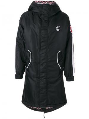 Куртка с капюшоном и заплаткой логотипом Au Jour Le For Colmar. Цвет: чёрный