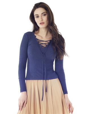 Пуловер на шнуровке Celine FreeSpirit. Цвет: темно-синий