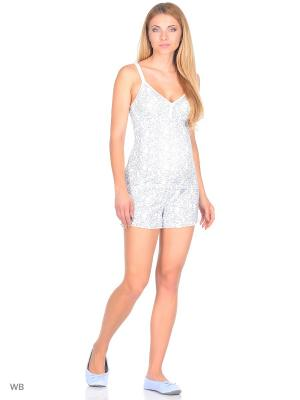 Пижама EUROMAMA. Цвет: темно-синий, молочный
