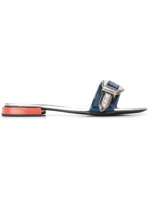 Открытые сандалии с пряжками Toga Pulla. Цвет: синий