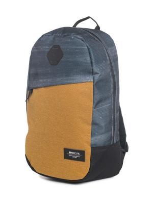 Рюкзак  STACKER CRAFT Rip Curl. Цвет: темно-синий, синий, темно-коричневый, хаки