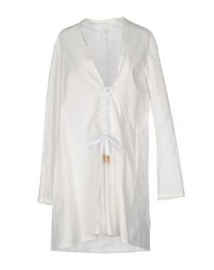Короткое платье DAMIR DOMA. Цвет: белый