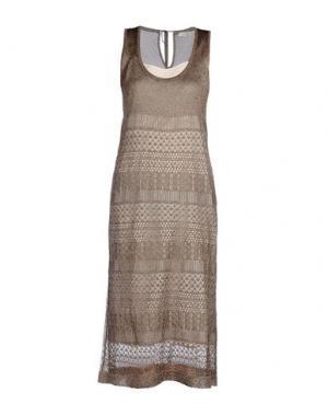 Платье длиной 3/4 SUOLI. Цвет: голубиный серый