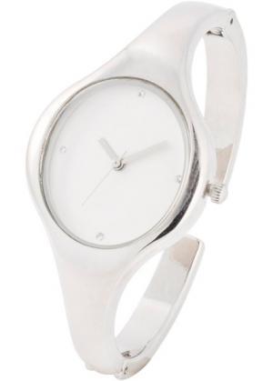 Часы-браслет (серебристый/белый) bonprix. Цвет: серебристый/белый