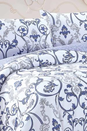 Постельное белье Евро, 70х70 Jardin. Цвет: белый, сиреневый