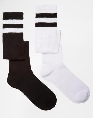 Urban Eccentric 2 пары удлиненных спортивных носков. Цвет: мульти