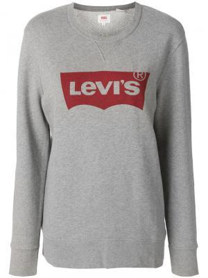 Printed logo jumper Levis Levi's. Цвет: серый