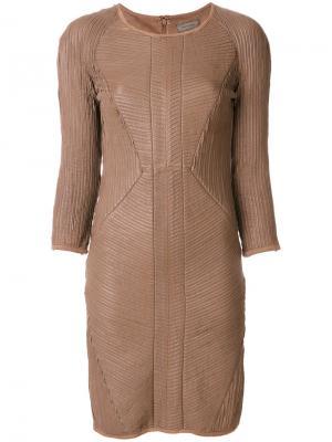 Платье Uria Tony Cohen. Цвет: коричневый