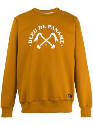 Толстовка с логотипом Bleu De Paname. Цвет: жёлтый и оранжевый