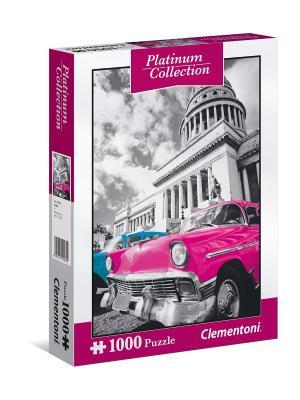 Пазл Платиновая коллекция. Куба. 1000 элементов. Clementoni. Цвет: морская волна, розовый, светло-серый