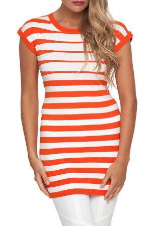 Туника Gloss. Цвет: полоска, оранжевый