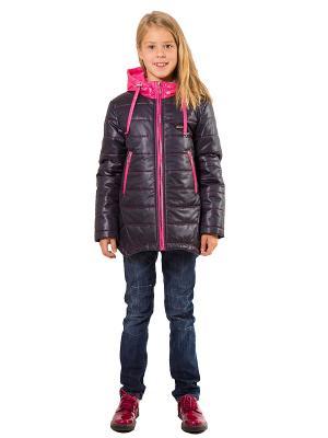 Куртка SAIMA. Цвет: синий, розовый