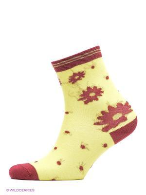 Носки, 2 шт Хох. Цвет: желтый