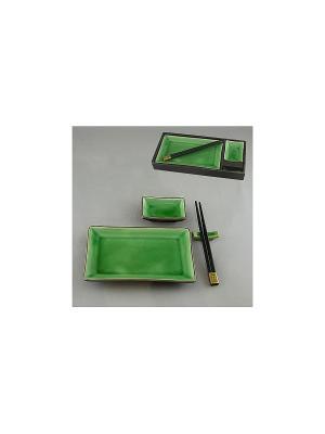 Набор для суши 4 пр. МЯТА SAGURO. Цвет: зеленый