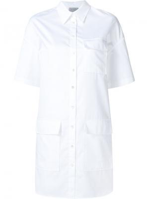 Платье-рубашка с короткими рукавами Grey Jason Wu. Цвет: белый