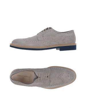 Обувь на шнурках ANGELO NARDELLI. Цвет: светло-серый