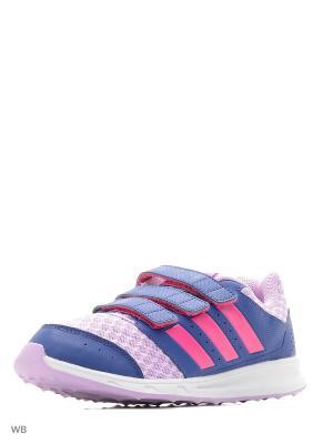 Кроссовки дет. спорт. lk sport 2 cf k Adidas. Цвет: розовый, синий, фиолетовый