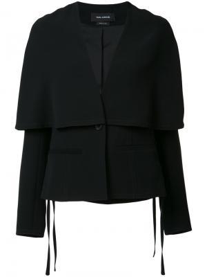 Многослойный пиджак-кейп Yigal Azrouel. Цвет: чёрный