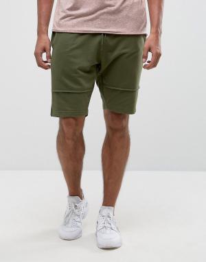 Brooklyn Supply Co. Трикотажные шорты с декоративными швами Co. Цвет: зеленый