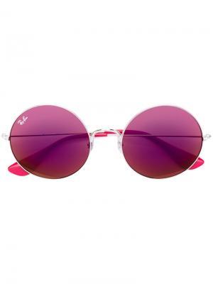 Солнцезащитные очки в круглой оправе Ray-Ban. Цвет: розовый и фиолетовый