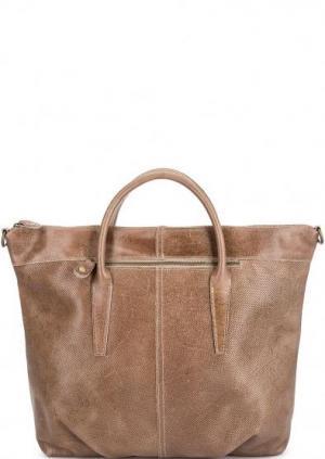 Кожаная сумка с короткими ручками Bruno Rossi. Цвет: коричневый