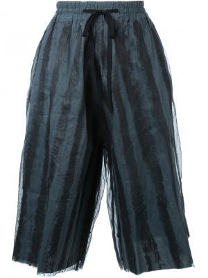 Широкие шорты в полоску Toogood. Цвет: синий