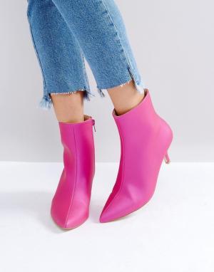 Raid Ботинки на каблуке-рюмочке Alecia. Цвет: розовый