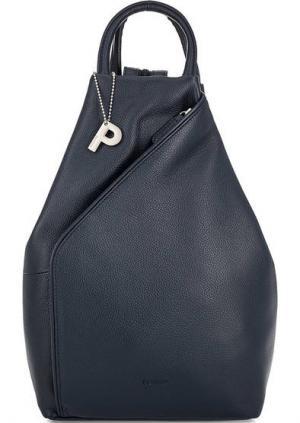 Кожаный рюкзак с двумя ручками Picard. Цвет: синий