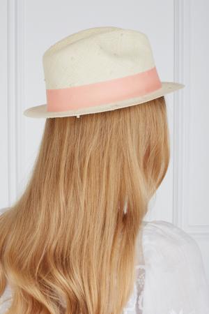 Соломенная шляпа Urbano Natural Knots Artesano. Цвет: кремовый, коралловый