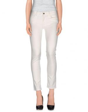 Повседневные брюки REBEL QUEEN. Цвет: белый