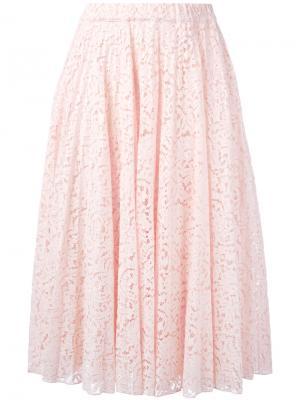 Плиссированная юбка Nº21. Цвет: розовый и фиолетовый