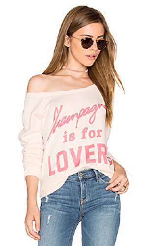 Теплый пуловер с круглым вырезом champagne lovers The Laundry Room. Цвет: румянец