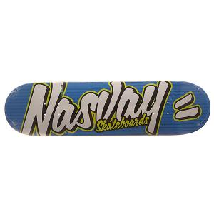 Дека для скейтборда  Street Series Funky Blue 32 x 8.25 (21 см) Nasvay. Цвет: синий,белый,черный