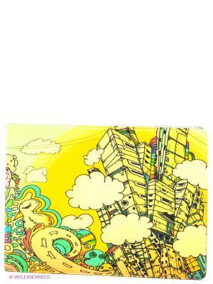 Обложка для студенческого Город фантазий Mitya Veselkov. Цвет: желтый, белый
