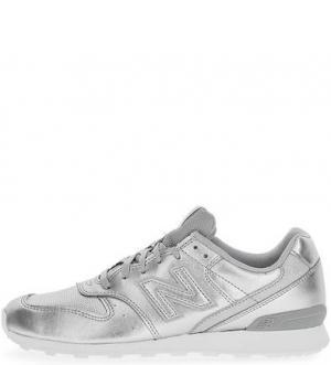 Серебристые кроссовки с вкладной стелькой New Balance. Цвет: серебряный