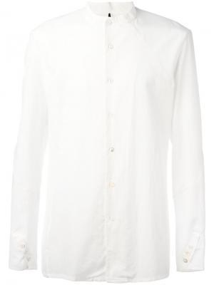 Одноцветная рубашка Masnada. Цвет: белый