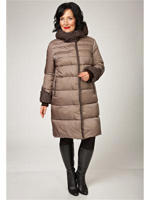 Стеганое пальто D`imma. Цвет: светло-коричневый