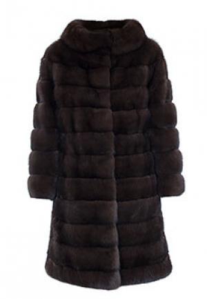 Меховое пальто соболь BELLINI. Цвет: коричневый