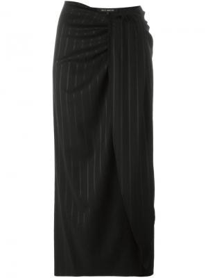 Юбка с драпированными деталями Ter Et Bantine. Цвет: чёрный