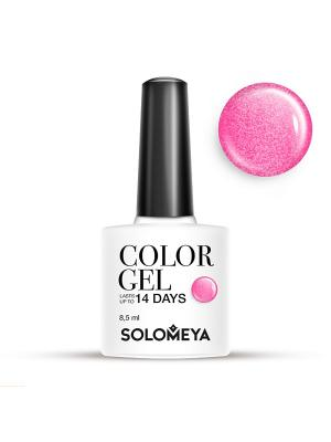 Гель-лак Color Gel Тон Strawberry SCG126/Клубника SOLOMEYA. Цвет: розовый