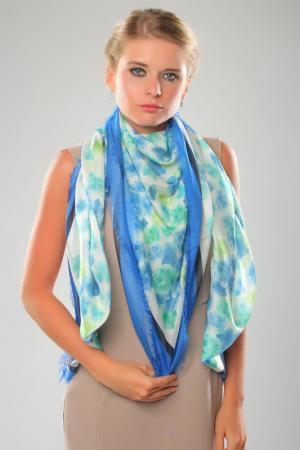 Платок Ungaro. Цвет: голубой